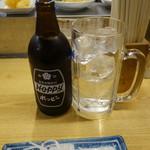 立飲みいこい - ホッピーセット(340円)、ナカ(180円)