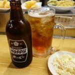 立飲みいこい - ホッピーセットとポテサラ(110円)