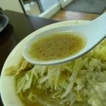 ジャンクガレッジ - ラーメンのスープ