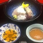 なかむら - 鱧の落とし、鱧の焼き霜、グジのお造り