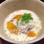 なかむら - 下北半島の松茸、鱧の落とし、カラスミ入りゆば汁