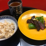 なかむら - 松茸ご飯と近江牛の炭火焼き