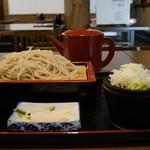 蕎麦 香寿庵 - ざるそば(¥810税込み)