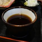 蕎麦 香寿庵 - 濃いめ、宗田節とか本節ではなくあご出汁でしょう