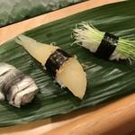 すし亭 - コハダ、数の子、芽ネギ