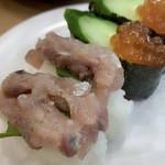 かっぱ寿司 - 料理写真:アジのなめろうとイクラ軍艦