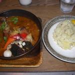 115005543 - 揚げチキンレッグと野菜