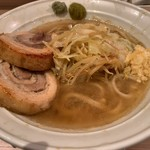 麺屋 味方 - ラーメン(塩)麺150g・ニンニク・柚子こしょう・わさび(800円)