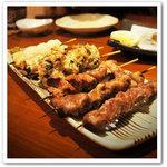 食と酒 のこのこ - 国産厳選鶏の炭火焼き鳥です!歯ごたえが最高です。