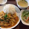 ZaaB - 料理写真:シーフードの卵カレー炒めご飯セット (本日サラダ、本日スープ、本日デザート付き)