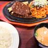 肉の万世 - 料理写真:ハンバーグ(180g)とパコリタン(ナポリタン大盛) 1,730円