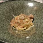 リストランテ カノフィーロ - 金華豚のラグーとジロール茸のソース タリアテッレ
