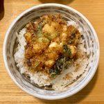 天正 - のっけ定食 ¥980 のかき揚げ丼