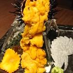 海鮮問屋 海ぼうず - 料理写真:こぼれ雲丹刺し 490円 (LINEクーポン限定)