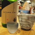 魚・炭・酒 おはし二日町 - 宮寒梅純米吟醸オータムタイム900円。