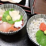 御食事処 たこ八 - ミニ海鮮丼 ミニ明太しらす丼