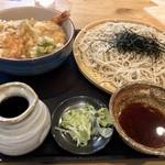 旬食・おそば なごみ - 天丼セット 990円