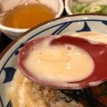 丸亀製麺 - 明太クリーム釜玉のスープ