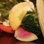 11508102 - 朝採れ野菜のサラダ;アップ