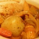 11508104 - 野菜たっぷりハヤシライス;アップ;ジャガイモは1個ゴロリ