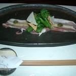 串あそびTO・IRO - 15本コースの初めに出た前菜、イタリアンぽくて美味しかったです