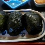 めはり寿司 二代目 - めはり寿司定食のめはり寿司