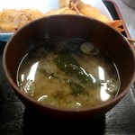 めはり寿司 二代目 - めはり寿司定食の味噌汁