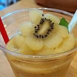 スワンズカフェ ジューススタンド - ゴールデンスムージー〜犬山産ゴールデンキウイ&パイナップル