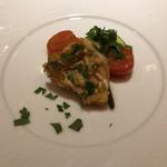 ヴィノテカサクラ - 甘鯛の鱗焼き  浅蜊ソース