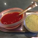 インド料理 ショナ・ルパ - コロッケの調味料