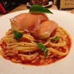洋食&ワイン イル カトラ グリル - 桃と生ハムの冷製パスタ