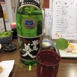 akinai - 耶馬美人(麦) お湯割り 700円 (2019.8)