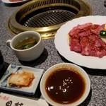 肉の割烹 田村 - ランチ カルビ定食(税別1,380円)
