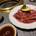 肉の割烹 田村 - ランチ 牛サガリ定食(税別1,000円)