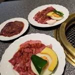 肉の割烹 田村 - カルビ&牛サガリ&牛レバー