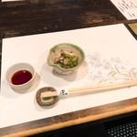 ふじや - 料理写真:きゅうりと鰻の小鉢