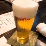 ふじや - 生ビール(スーパードライ)