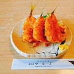 磯料理マルゴ - 黄金アジフライ 単品