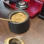 橋本食堂 - この山椒が香り高くて、美味しい