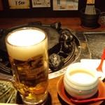 11512032 - 生ビールとおとおしの豆腐