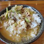kobiki tei - 白飯にスープをブッ掛け・・・、