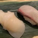 仙令鮨 - ほたて、かんぱち