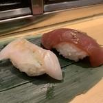 仙令鮨 - 生穴子、漬けまぐろ