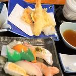 115136514 - 寿司と天ぷら御膳1200円