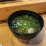 松寿し - セットの味噌汁