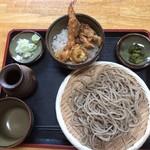石挽き蕎麦 庵 - ミニ天丼ともりそばのセット¥1050