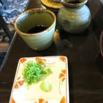 蕎麦 貴賓館 - 蕎麦つゆと薬味