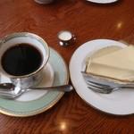 フィリップス ガーデン カフェ  - プレミアムチーズケーキとブレンドコーヒー