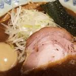 麺屋蕪村 - ●蕪村そば710円(税別)       ●トッピング・味玉100円(税別)