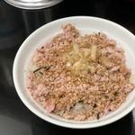 芳醇煮干 麺屋 樹 - ゴロゴロチャーシュー丼(250円)